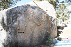 Rock Climbing Photo: Transmaniacon Boulder East face topo