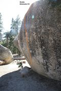 Rock Climbing Photo: Transmaniacon Boulder North East face topo