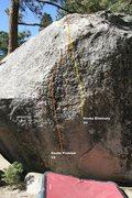 Rock Climbing Photo: Transmaniacon Boulder North East face topo