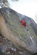 Rock Climbing Photo: High up on Big Greeny, V1R