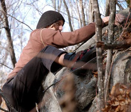 Rock Climbing Photo: top out