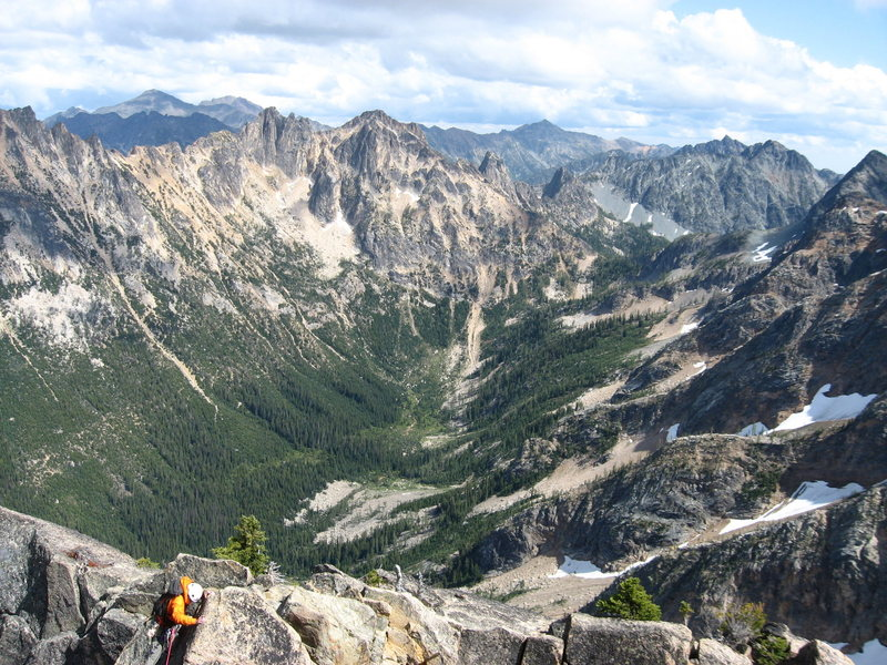 Rock Climbing Photo: Ridge Traverse to the Summit Pinnacle