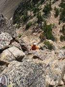 Rock Climbing Photo: Climbing the South Arete