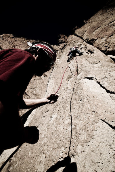 Me leading it...<br> Photo Credit www.jordansiemens.com