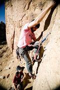 Rock Climbing Photo: Me leading it 2! Photo Credit  jordansiemens.com