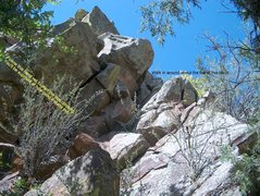 Rock Climbing Photo: View from below start of Gridle.  Just after the w...