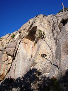 Rock Climbing Photo: Fascination Street climbs the major dihedral to th...