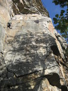 Rock Climbing Photo: Climber on Right is on Birdland. The climber on th...