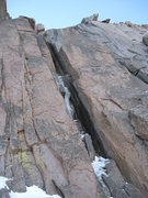 Rock Climbing Photo: Schobinger's Crack on 10/26/08.  Anyone who's look...