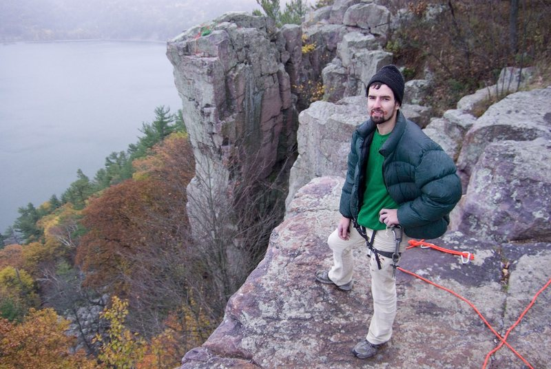 Rock Climbing Photo: Me with Son of A Great Chimney in the background, ...