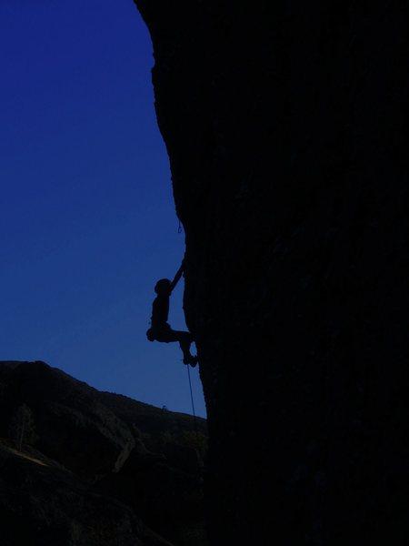 Rock Climbing Photo: Seneca on Foreplay.