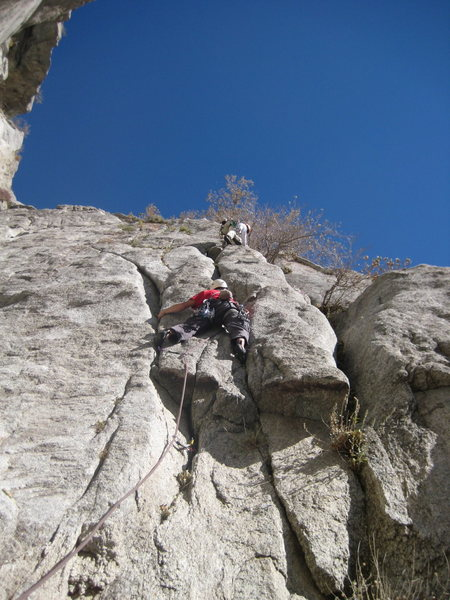 Rock Climbing Photo: Indecent Exposure, showing one of the good section...