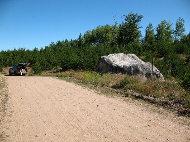 Northern Wisconsin bouldering (Wolf Rock)