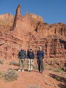 Rock Climbing Photo: Rich, Hoot, and me after climbing Ancient Art