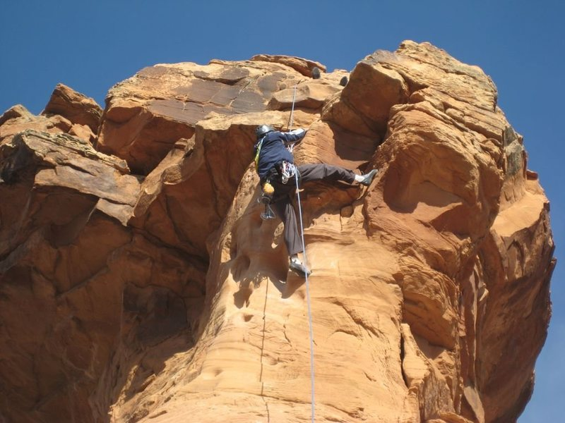 Rock Climbing Photo: Pulling the crux on Otto's Route - Independence Mo...