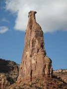 Rock Climbing Photo: Independence Monument from the East. Otto's Route ...