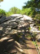 Rock Climbing Photo: Gorilla My Dreams follows the flakes in the center...