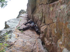 Rock Climbing Photo: Ryan leading the first pitch of Cracula.