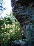 Rock Climbing Photo: Ben sandbagging the rest of us on Seek The Truth m...