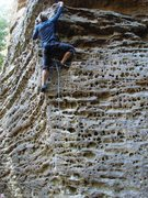 Rock Climbing Photo: SteveZ casting off on the cool pocketed face at th...