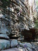 Rock Climbing Photo: Bare Metal Teen, Torrent Falls, RRG.  October '08....