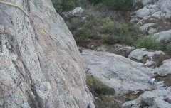 Rock Climbing Photo: from the anchors to the belay