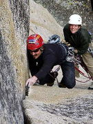 "Rock Climbing Photo: Charley Epperson leading the 2nd pitch of ""Pa..."