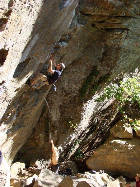 Rock Climbing Photo: Ben low on Ro.  1 of 3.  October '08.