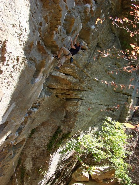 Rock Climbing Photo: Ben past the crux on Ro Shampo.  3 of 3.  October ...