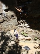 Rock Climbing Photo: SteveZ with cool lighting on Ro Shampo before his ...