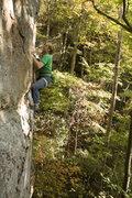 Rock Climbing Photo: Brendan cruising the easy top half.