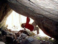 Rock Climbing Photo: Chilly (V7?), Bolton, VT