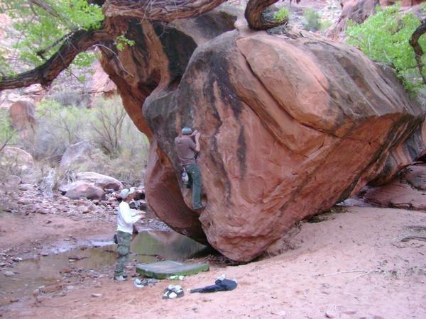 Random boulder we found