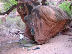Rock Climbing Photo: Random boulder we found