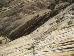 Rock Climbing Photo: Pat following Pitch 2