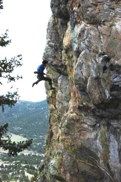 Rock Climbing Photo: Falling off the variation...great little line.