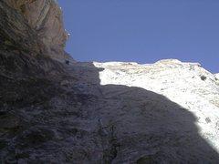 Rock Climbing Photo: Paul on first pitch.Stella Adams on Arrowhead up t...