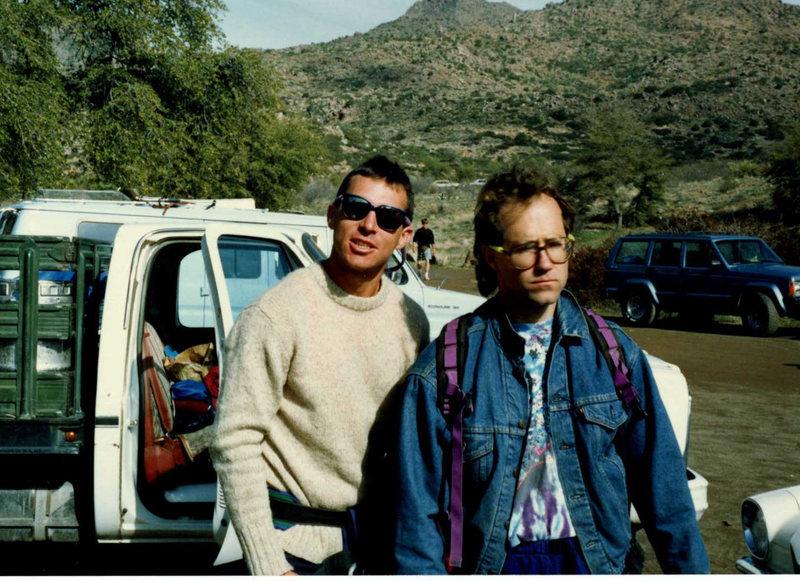 Rock Climbing Photo: Jason Sandbag and Meep Meep Jaybro at Oak Flat