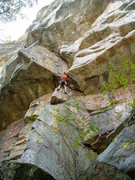 Rock Climbing Photo: Gene Smith protecting the crux.
