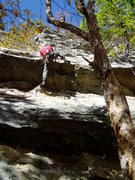 Rock Climbing Photo: Pulling the roof - Rich Goldstone.