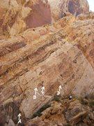 Rock Climbing Photo: Dark Side Wall :-A)Bonawaim 5.10.B)The Dark Side 5...