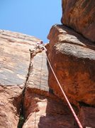 Climbing at Moderate Mecca, Red Rock