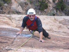 Rock Climbing Photo: Paul on crux moves.