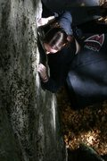 Rock Climbing Photo: My wife Nicole on classic crack...