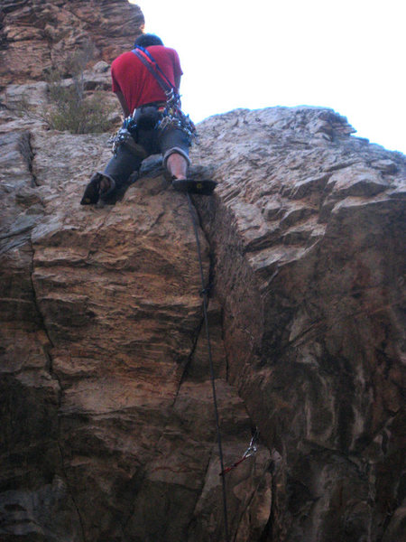 Me past the crux and on the easy part.