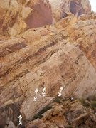 Rock Climbing Photo: Route on The Dark Side Wall . The Naked Truth is o...