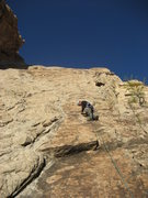 Rock Climbing Photo: Johnny Adams starting the first pitch