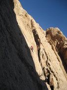Rock Climbing Photo: Stella Adams on second pitch