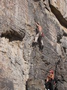 Rock Climbing Photo: Starting up the 1st pitch
