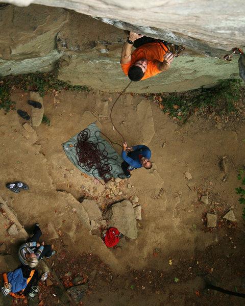 Rock Climbing Photo: Eric on Creep Show